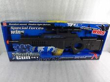 Toy Machine Gun Miltar  With Lights and Sounds 22'' L  7 ''  H