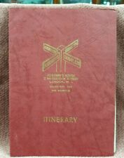 VINTAGE FOURWAYS TRAVEL LTD LONDON ITINERARY BOOK 1950s