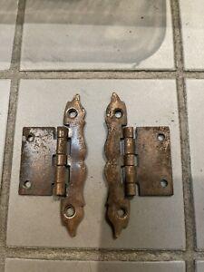 Antique vintage Copper/ Brass Hinges X 28