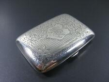 Antikes Zigarettenetui, England 1907, TH Hazlewood & Co, 925er Silber!
