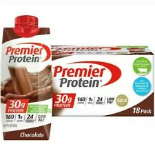 Premier Protein Shakes  Chocolate 11 fl. oz., 18-pack 160 calories 30g protein