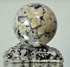 """PYKNITE Topaz Crystal stone sphere 3.15"""" with stand #14103 - GERMANY"""