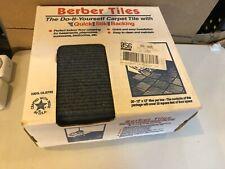 "Berber Carpet Tiles | Peel and Stick 12""x12"" 20 Tiles | 20 sq/ft Ocean New #2510"