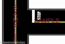 HO SCALE LAYOUT EASY PEEL & STICK ROADWAY DECALS T INTERSECTION TOUGH VINYL