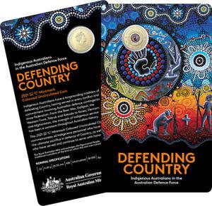 2021 $2 AUSTRALIAN INDIGENOUS MILITARY SERVICE 'C' MINTMARK ON CARD