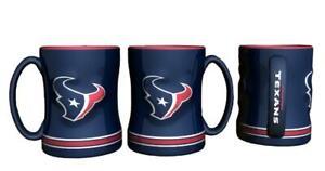 Houston Texans 15oz Sculpted Relief Coffee Mug [NEW] NFL Tea Cup Hot Ceramic