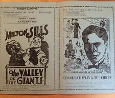 CHARLIE CHAPLIN IN THE CIRCUS  ORIGINAL RARE 1927 MOVIE THEATRE FLYER