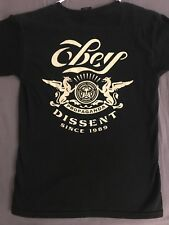 OBEY PROPAGANDA Pyramid of Dissent Crew Neck Black Graphic T-Shirt Sz Small NWOT