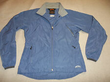GOLITE JACKET LIGHT WEIGHT PACK VENTS FULL ZIP WIND PERIWINKLE WOMEN M FREE SHIP