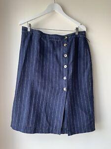 SUSSAN 100% LINEN Skirt Size 16 Excellent Condition