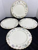 """Noritake Bone China """"Brookhollow"""" Dinner Plates 10 3/8"""" (Set of 4)"""