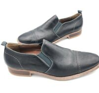 J&M Johnston and Murphy Men's Sz 10M US Leather Slip On Dress Shoes Black Brown