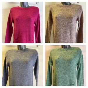 Ladies M&Co longer length jumpers with front pockets - various colours - sizes