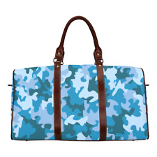 Luggage Overnight Bag Camouflage Blue Waterproof Travel Bag Organiser Duffle