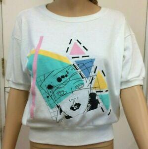 Vintage American Bettes USA 80's sweatshirt 3/4 sleeve Rad New wave size L