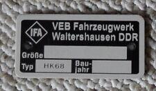 Typenschild NVA Anhängerkupplung HK68 Protzenhaken P3 Lo Robur Multicar IFA DDR