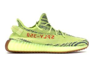 adidas Yeezy Boost 350 V2 Semi Frozen Yellow Size 9.5 - Style B37572