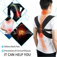 For Men Women Adjustable Posture Corrector Low Back Support Brace Belt Therapy