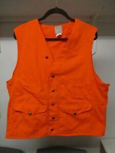 Vintage FILSON Style 12 Orange Safety Hunting Vest Size 46