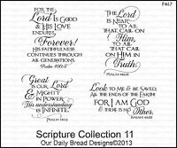 Our Daily Bread Designs Cling Stamp Set Scripture Collection 11, Bible Verses