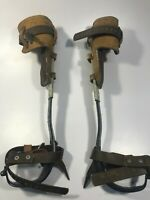"""Pole Climbers with 1&1/2"""" Gaff - Complete Set - USED"""