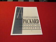 1937 Packard Junior accessory catalog