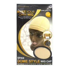 Qfitt Span Dome Style Wig Cap Ultra Stretch U Part Fit Band #5037 Natural Color
