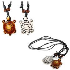 Turtle Necklace Hawaiian Sea Pendant with Cotton Cord Durable & Adjustable 2pcs