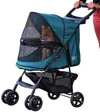 4 Wheel Luxury Pet Dog Cat Puppy Stroller Pushchair Buggy Pram Travel Carrier
