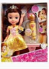 NUOVO Principesse Disney cantare-a-long BELLE LA BELLA E LA BESTIA bambola vestito si illumina