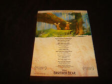 BROTHER BEAR Oscar ad with moose, Disney & FINDING NEMO with whale's tale, Pixar