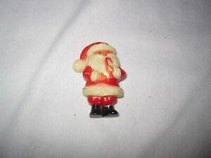 Vintage Plastic Santa with Candy Cane Pin Hong Kong
