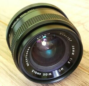 """VIVITAR WIDE-ANGLE 28mm f2  f2.0 for Minolta MD """"oil on the blades"""""""