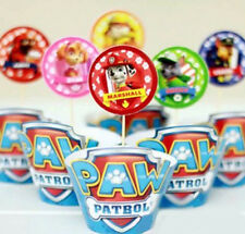 12x PAW PATROL Girls Boys Children Brithday Cupcake Cake Wrapper & Toppers *NEW*