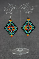 Native american beaded earrings, style Beadwork, native style earrings,
