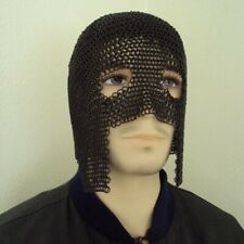 Chainmail Mask 6mm Butted Steel Rings Perfect for Costume & Re-enactment & LARP