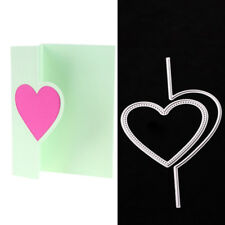 Heart Flop Metal Cutting Dies Stencil Scrapbook Card Album Decor Embossing Craft