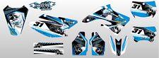 KIT ADESIVI GRAFICHE SKULLZ BLACK TM MX 250 F 450 F 2004 2005 2006 2007 DECALS