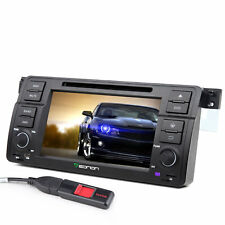 """7""""Android Car Stereo DVD GPS Navi Audio Touch Screen Fits BMW E46 Head Unit OBD2"""