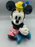 "Schmid Porcelain Music box -Vintage Minnie Mouse 12"" Plays ""It's a Small World"""