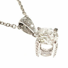 .73ct Old European Cut Diamond in a 18kt White gold .13cttw Pendant Setting!