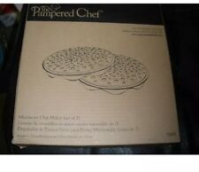PAMPERED CHEF MICROWAVE CHIP MAKER~SET OF TWO~ #1241~POTATO CHIPS~NEW
