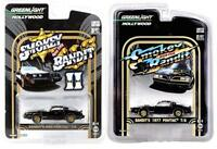 Greenlight 1/64 Smokey and the Bandit Set 1977 and 1980 PONTIAC TRANS AM T-tops