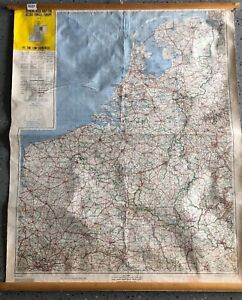 Vintage CLOTH roll up map1 Layer Europe Vintage, Salvage, Old, Antique.