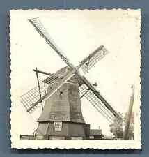 Ancien moulin à vent DE VEER  Vintage silver print. Old Windmill  Tirage argen