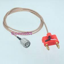 TNC male plug to Dual Banana plug connector Oscilloscope test probe RG316 1M