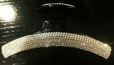 New Large Champagne Crystal  5''  Hair Claw Clip