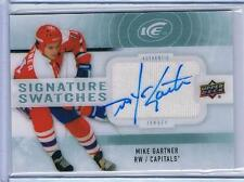 2014-15 MIKE GARTNER UPPER DECK ICE SIGNATURE SWATCHES #SS-MG CAPITALS