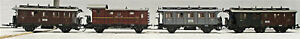 ROCO 4209 4210 4211 4210 4 WHEEL DR COACHES HO SCALE