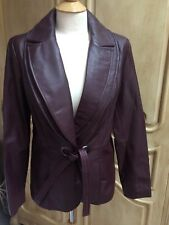 Bradley Bayou Burgundy Leather Coat NWT Size Small
